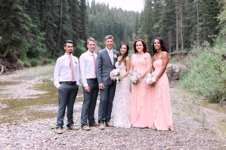 Meadow Muse Pavilion Wedding, bridal party, forest, nicole sarah photography
