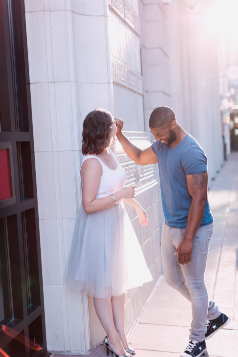 Stephen's Ave Engagement Session, tulle skirt, calgary wedding photographer nicole sarah