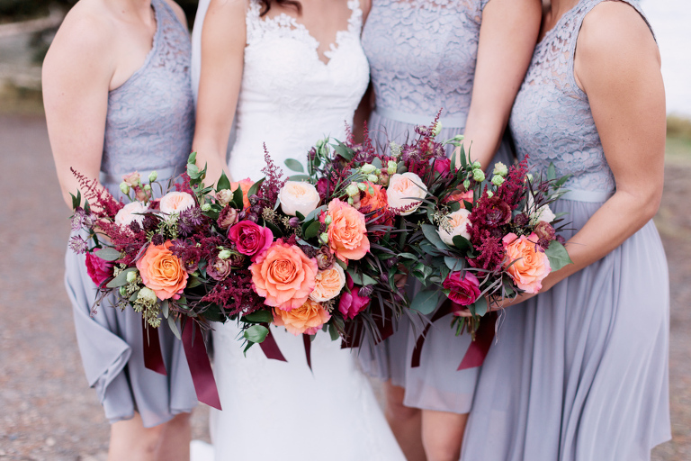 bouquet, wedding, bridesmaids, grey, purple, fall, mountains, wedding, calgary wedding photographers, nicole sarah