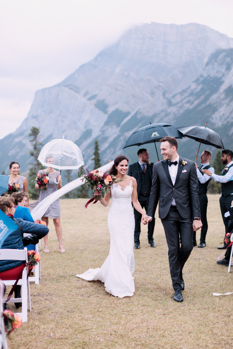 wedding ceremony, sunset photo, nicole sarah, calgary wedding photographers, mountains, banff, tunnel mountain, wedding vows