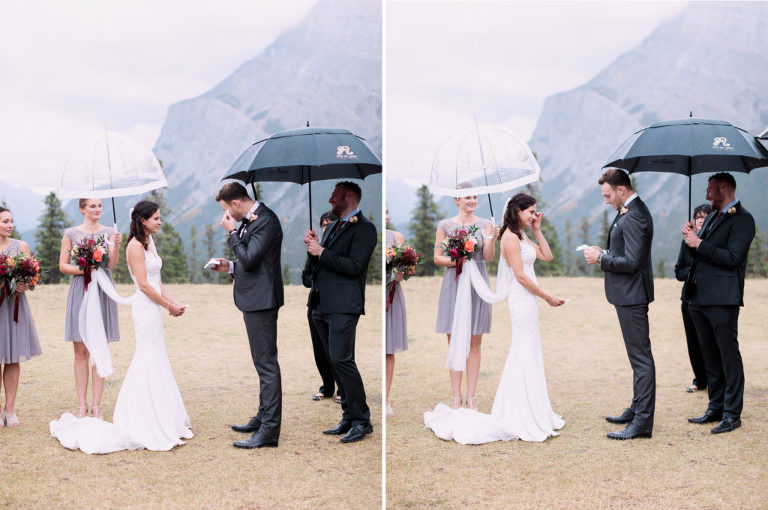 wedding ceremony, sunset photo, bridal bouquet, nicole sarah, calgary wedding photographers, mountains