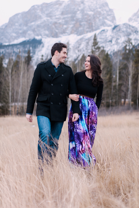 Romantic Canmore Engagement, mountain engagement photography, christmas engagement, christmas wedding photos, couple poses, romantic proposall