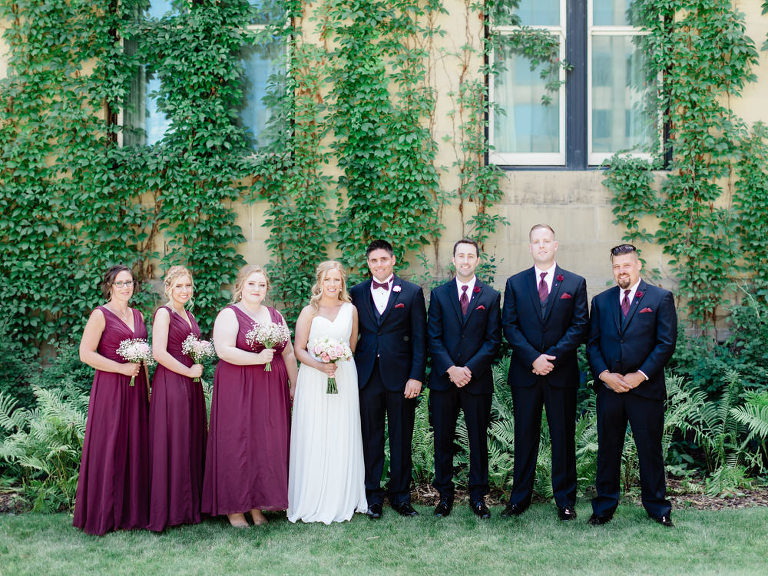 calgary wedding, film wedding, film examples, film photography, fuji400h film wedding, film soft focus, bride and groom poses, intimate wedding, small wedding, traditional wedding poses, wine bridesmaid dresses, burgundy bridesmaid dresses